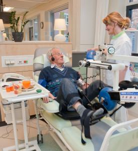 Fietsen tijdens nierdialyse, Foto EJ Brouwer